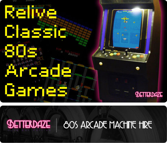 Arcade Machine Hire Header